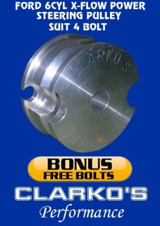 FORD 6 CYL X-FLOW POWER STEERING PULLEY (4 BOLT HARMONIC)